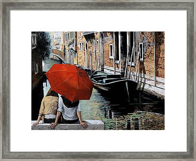 Uno Sguardo Al Canale Framed Print by Guido Borelli