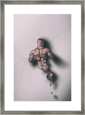 Unraveling Framed Print