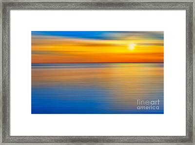 Unseen Sunset - A Tranquil Moments Landscape Framed Print by Dan Carmichael