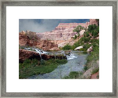 Unspoiled Waterfall Framed Print