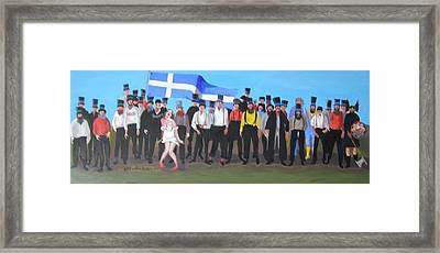Unst Mail Voice Choir World Tour Framed Print by Eric Burgess-Ray