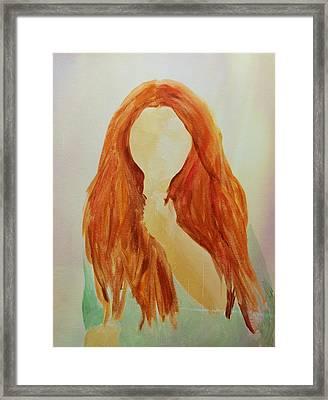 Unsure Framed Print by Elizabeth Sullivan