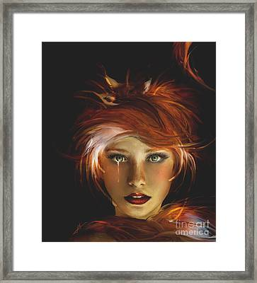 Untamed The Redhead And The Fox Framed Print