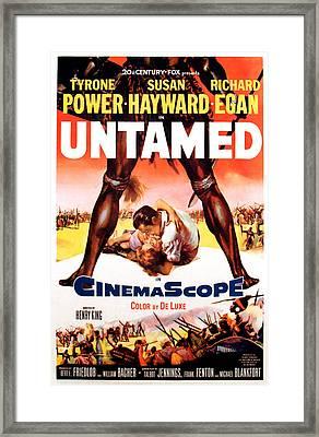 Untamed, Us Poster Art, 1955.  Tm & Framed Print