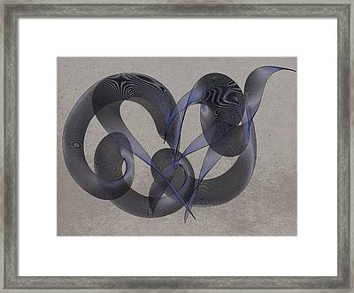 Untangled Hearts Framed Print