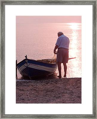 Untangling The Nets Framed Print by Tamyra Crossley
