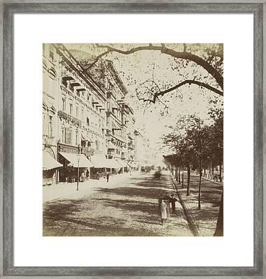 Unter Den Linden Berlin, Johann Friedrich Stiehm Framed Print