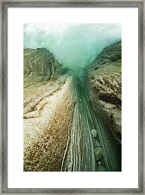 Unterwaterpicture From A Waterfall Framed Print
