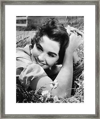 Until They Sail, Jean Simmons, 1957 Framed Print