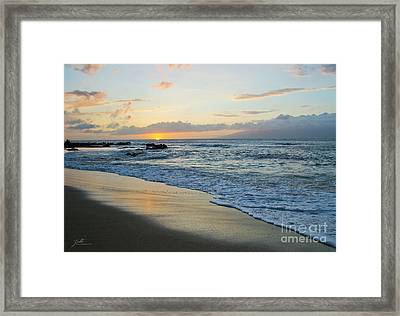 Framed Print featuring the photograph Until Tomorrow by Suzette Kallen