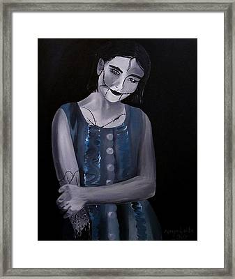 Untitled  04 Zombie Doll Painting Framed Print by Aarron  Laidig