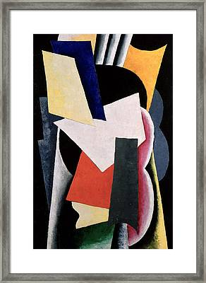 Untitled, 1916 Framed Print by Lyubov Sergeevna Popova