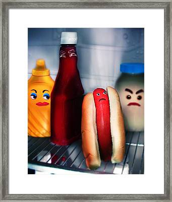 Hot Dog Framed Print by Diane Bradley