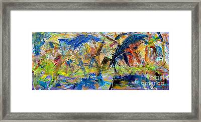 Untitled Abstract #2 Framed Print by Greg Mason Burns