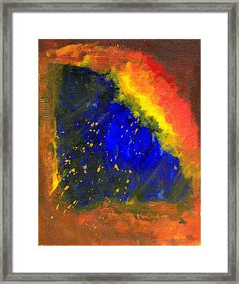 Framed Print featuring the painting Untitled Abstract 8-1614 by Sean Seal