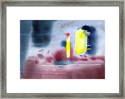 Untitled Abstract 9-114 Framed Print by Sean Seal