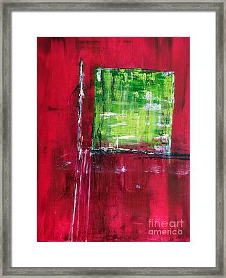 Untitled- Abstract  Framed Print by Ismeta Gruenwald