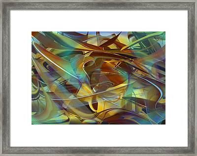 Abstract Number Fifteen In Blue Framed Print