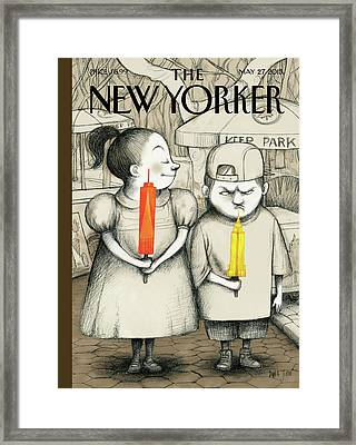 New Yorker May 27th, 2013 Framed Print by Ana Juan