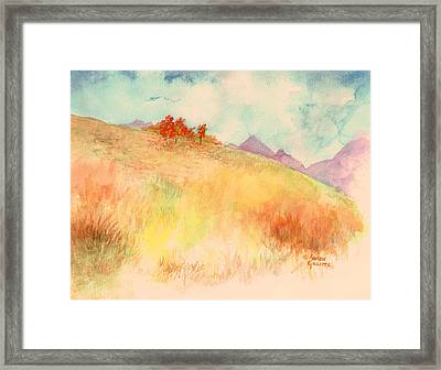 Framed Print featuring the painting Untitled Autumn Piece by Andrew Gillette