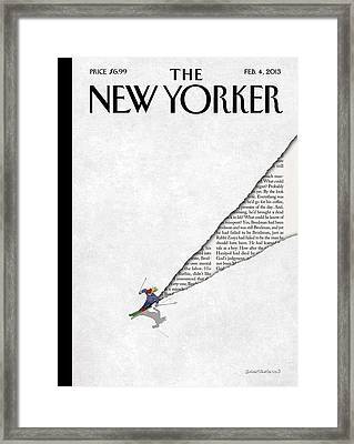 New Yorker February 4th, 2013 Framed Print