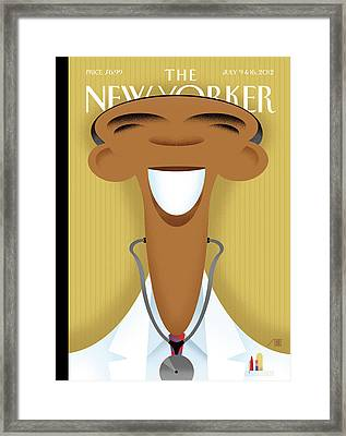 New Yorker July 9th, 2012 Framed Print