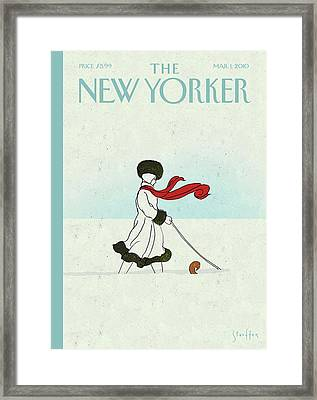 New Yorker March 1st, 2010 Framed Print by Brian Stauffer