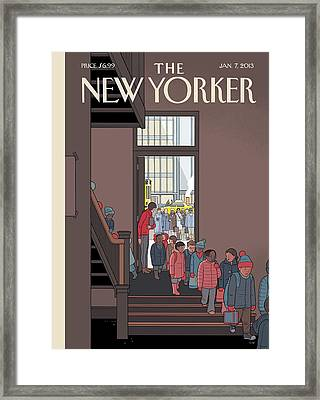 New Yorker January 7th, 2013 Framed Print by Chris Ware