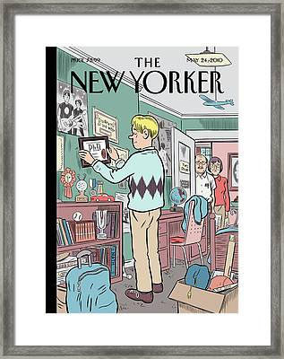 New Yorker May 24th, 2010 Framed Print by Dan Clowes