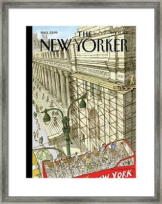 New Yorker September 19th, 2011 Framed Print by David MaCaulay