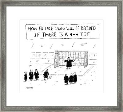 New Yorker August 22nd, 2016 Framed Print by David Sipress