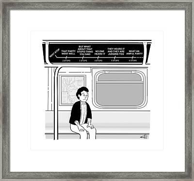 New Yorker December 12th, 2016 Framed Print by Ellis Rose
