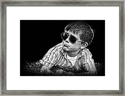 Untitled Expression Framed Print by Kelly Hazel