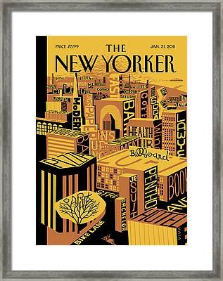 New Yorker January 31st, 2011 Framed Print by Frank Viva
