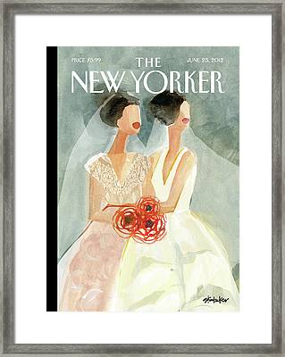New Yorker June 25th, 2012 Framed Print by Gayle Kabaker