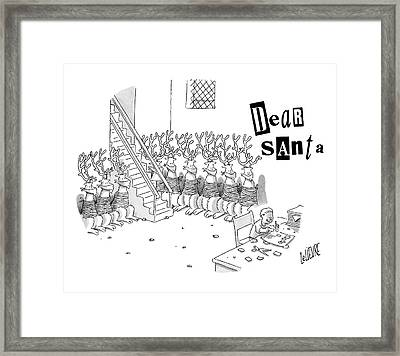 New Yorker December 18th, 2006 Framed Print by Glen Le Lievre