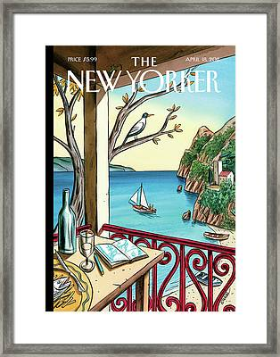 New Yorker April 18th, 2011 Framed Print by Jacques de Loustal