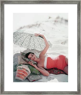 Vogue July 1st, 1954 Framed Print