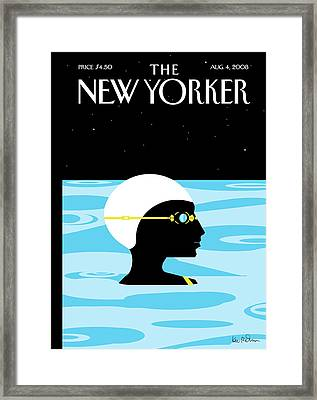 New Yorker August 4th, 2008 Framed Print by Kim DeMarco