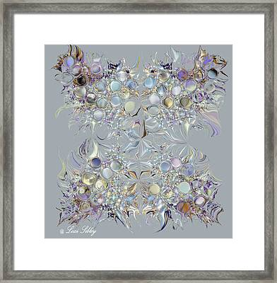Framed Print featuring the digital art Four Point Star by Loxi Sibley