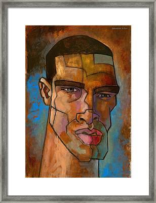 Untitled Male Head August 2012 Framed Print by Douglas Simonson