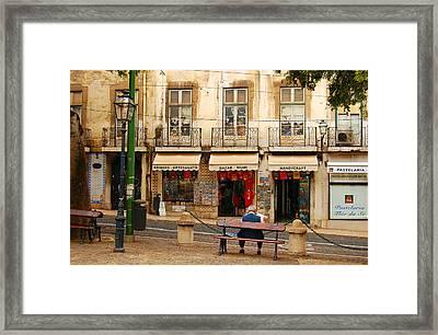 Lisbon Street Scene Framed Print