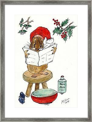 Santa Framed Print by Nell Hill