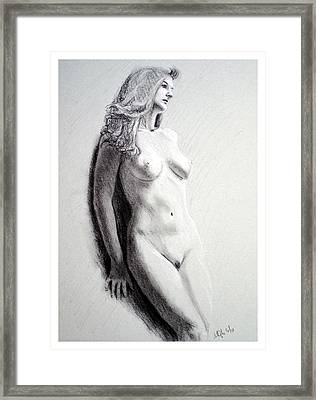 Untitled Nude Framed Print by Joseph Ogle