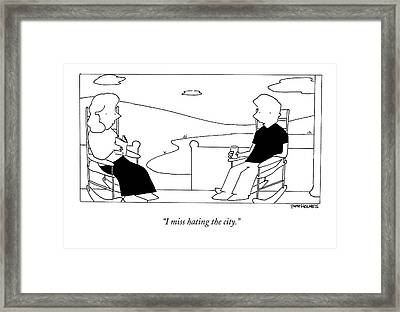 I Miss Hating The City Framed Print by Pete Holmes