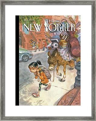 New Yorker September 13th, 2010 Framed Print by Peter de Seve