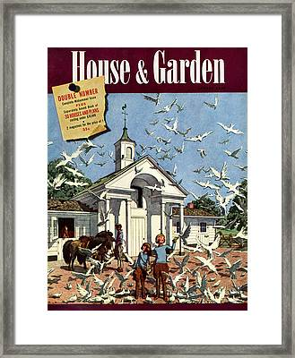 House & Garden August 1st, 1939 Framed Print
