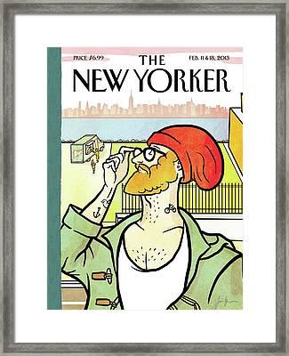 Brooklyn's Eustace Framed Print