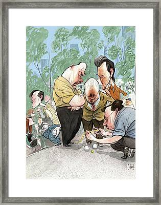 New Yorker August 2nd, 2010 Framed Print by Steve Brodner