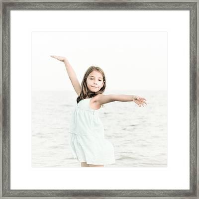 Sea Girl Framed Print by Tetyana Kokhanets